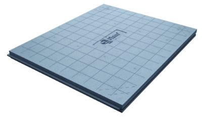 Panneaux rainurés bouvetés 4 côtés et quadrillés au pas de 10 cm.