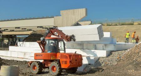 Approvisionnement en blocs Stisol Remblai