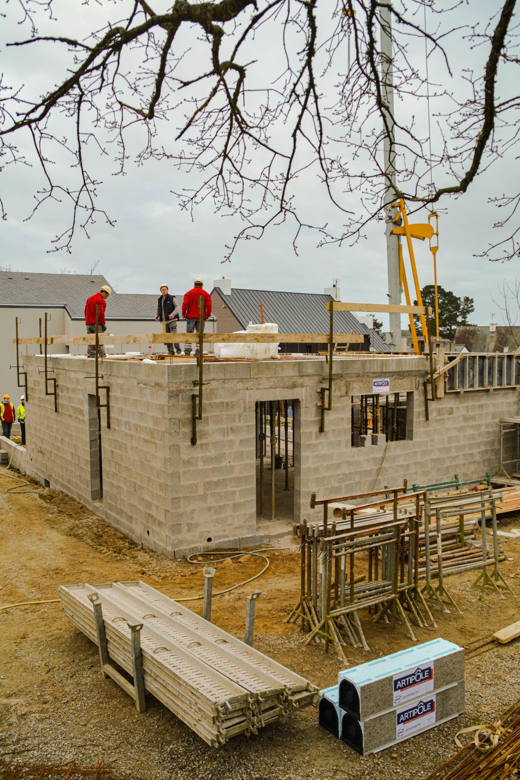 construction maison neuve isolation polystyrene expanse hirsch