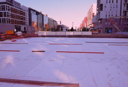 Chantier remblai allege polystyrene expanse Arena stisol