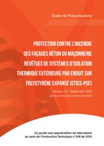 guide ETICS PSE 2020 incendie ITE facade