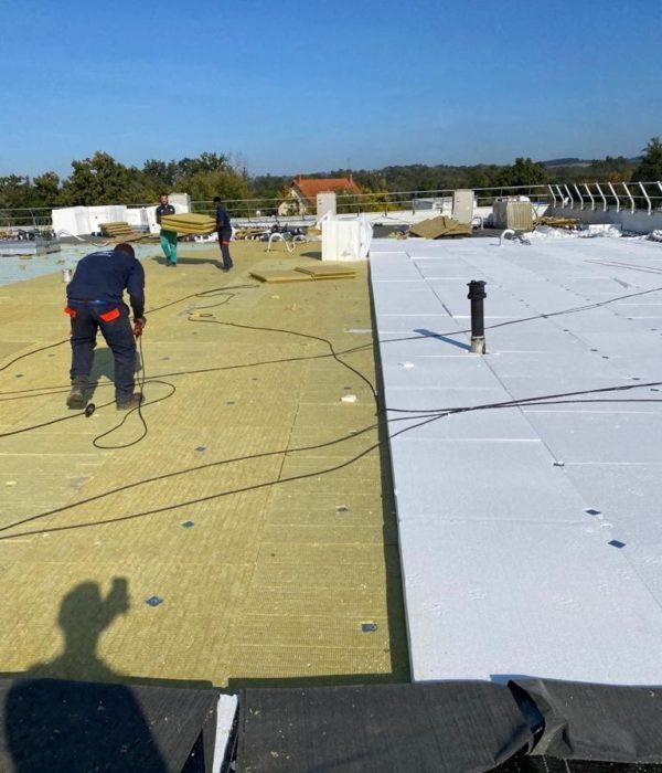 Chantier toiture terrasse